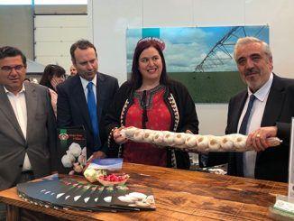 Begoña García insta a la unidad del sector en la Feria del Ajo de Aceuchal