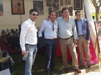 El stand fue visitado por el presidente de la Diputación de Badajoz, Miguel Ángel Gallardo, el presidente de la Junta de Extremadura, Guillermo Fernández Vara, y el alcalde de Puebla de la Calzada, Juan María Selfa.
