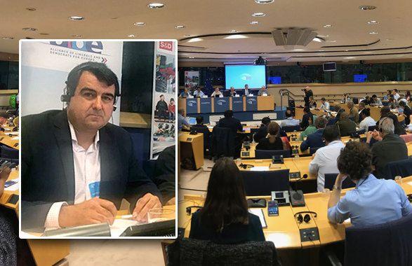 Andrés Góngora ayer en la Conferencia Europea sobre el Sáhara Occidental